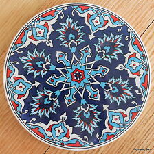 Turkish ceramic trivet ROUND- traditional Ottoman designs,16cm diameter #19