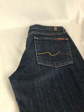 7 FOR ALL MANKIND Woman's Jeans Size 30X34 Dark Blue Black Color Low Rise