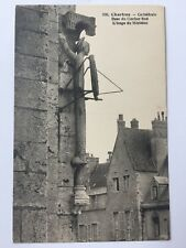 Chartres Cathedral Base du Clocher Sud Vintage Postcard France Black White A10