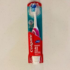 Colgate 360 Advanced Battery Powered Toothbrush Soft Bristles - Choose Color