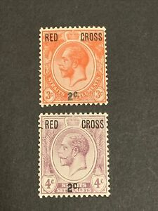 straits settlements Stamps Red Cross Overprint Mnh
