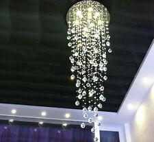 "H59"" x W19.7"" Modern Contemporary Lamp Round Raindrop Clear K9 Chandelier"