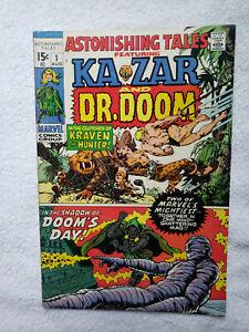 Astonishing Tales #1 (Aug 1970, Marvel) [FN 6.0] Ka-Zar and Doctor Doom