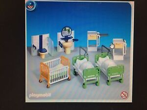 Playmobil 7921 Hospital Ward New in Sealed Bag!