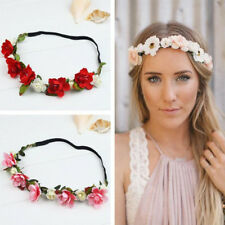 Boho Style Floral Flower Crown Party Wedding Hair Wreaths Headband Hair Band AU