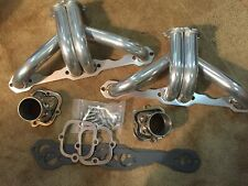 Hot Rod Block Hugger Headers - SBC - Thermo Coated with stainless collectors