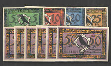 German NOTGELD MERSEBURG L860 Complete Set of 10 UNC