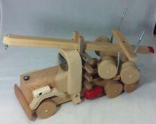 Handmade Wooden Toy Logging Truck Tractor Trailer Semi Log Trucks Oregon