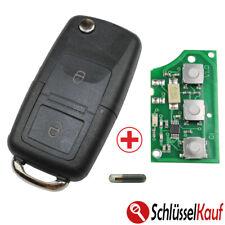 Autoschlüssel Klappschlüssel 433 Mhz + Rohling + Transponder NEU passend für VW
