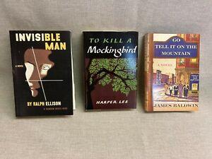The First Edition Library 3 book lot James Baldwin Harper Lee, Ellison Facsimile