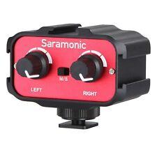 """Saramonic SR-AX100 2 Channel 3.5 mm (1/8"""") Mélangeur Audio Adaptateur Interface pour DSLR"""