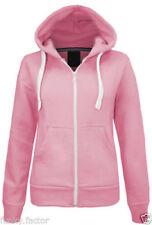 Abrigos y chaquetas de mujer polar de poliéster de color principal rosa