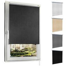 Verdunklungsrollo Klemm-fix ohne Bohren Thermo Rollos für Fenster Seitenzugrollo
