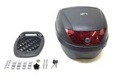 Topcase Koffer Helmfach 28 Liter inkl. Montageplatte für Roller schwarz