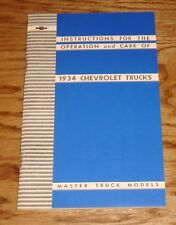 1934 Chevrolet Truck Master Models Owners Operators Manual 34