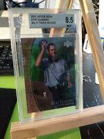 2001 UD Upper Deck Tiger Woods #SL11 BECKETT 8.5 Near Mint Stat Leaders