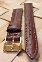 Genuine MOVADO 14mm Brown Calf Skin Watch Strap Band Brand New Retail $90.00