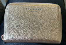 New Genuine Ted Baker Rose Gold Small Leather Coin & Card Purse Illda