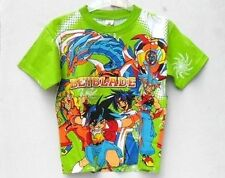 BEYBLADE-T-SHIRT-100% IN PURO COTONE VERDE-LAVABILE IN LAVATRICE-DUPLEFAX-TG. S