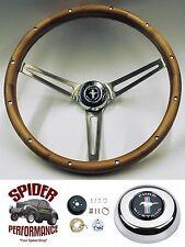 """1965-1969 Mustang steering wheel PONY 15"""" MUSCLE CAR WALNUT steering wheel"""