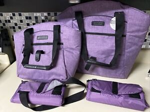 California Innovations 4 Pack Insulated Tote Set - Hot/Cold -Color Heather Berry