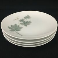 Set of 4 VTG Bread Plates Noritake Wild Ivy Cook N Serve Green Gray 102 Japan