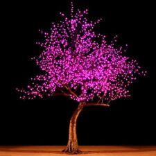 Bright Baum LED Light Cherry Artificial Tree 9-Feet Purple Garden Decor