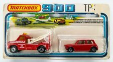 1979 Matchbox 900 TP-6 Ford Wreck Truck and Racing Mini RED / NO LABELS