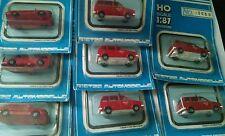 Rietze Set of 8 HO Fire Vehicles