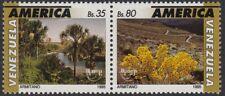 Upaep Venezuela 1773/74 1995 Mauritia Espeletia flora  MNH