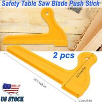 2 pcs Safety Wood Saw Push Stick Woodworking Tool for Table Working Blade Router