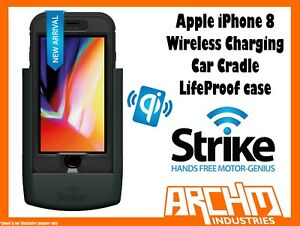 STRIKE ALPHA APPLE IPHONE 8 CAR CRADLE WIRELESS CHARGING LIFEPROOF CASE PRO