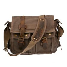 Bag School Messenger Shoulder Bag Men s Vintage Crossbody Satchel Canvas  Leather 91b93c6e18