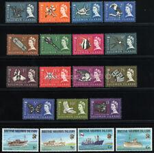 SOLOMON ISLANDS 1965/75 SC 128-42+285-88 VF OG MNH ** 2 COMPLETE SETS 15+4 STAMP