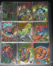 1994 Marvel Universe RAINBOW Powerblast Set of 9 Cards NM/M (Hobby Excl.)