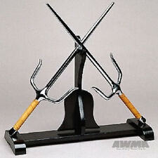 Kubudo Stand Sai Display Wood Rack Martial Arts Weapons