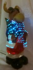 Holiday Christmas Decoration Electric Color Changing Fiber Optic Moose Org Box