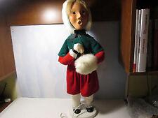 Byers Choice 1987 Rare Display Electric Bellringing Girl