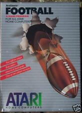Real Sports Football Cartridge Atari 400/800/XL/XE Large Silver Box(LS)