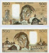 Gertbrolen 500 FRANCS PASCAL du 6-8-1992    S. 396 Billet Numéro  989239733