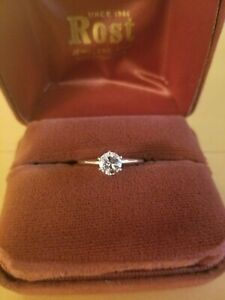 Diamond Engagement Ring 14k Gold .61 ct Round Brilliant H, SI-2