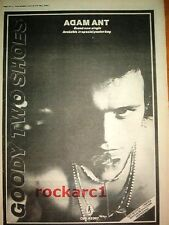 ADAM ANT Goody Two Shoes 1982 UK Poster size Press ADVERT 16x12 inches