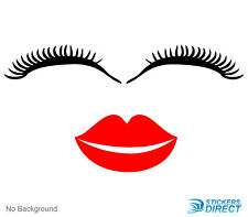 Eyes and Lips Mouth Sticker Vinyl Decal Cars Walls Any Colour Buy 2 Get 1 Free