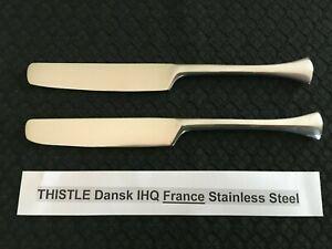 """Dansk Thistle FRANCE Dinner Fork 7 3//4/"""" Stainless Flatware Silverware 3 Tine"""