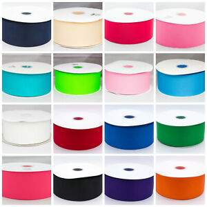 """Grosgrain Ribbon 50mm 2""""  Solid Colours buy 3 get 4th free 1st Class Postage"""