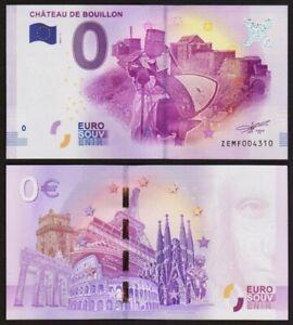 0 Euro Schein - CHATEAU DE BOUILLON - 2017 - UNC euro souvenir - BELGIEN