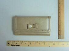 APT 9 Wallet Bronze Cream Nude Gold Clutch Purse Bag BOW Detail - FLASH SALE