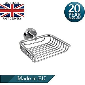 Shower Soap Dish Holder with Drainage, Tray in Polished 18/10 Stainless Steel