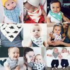 4Pcs Set Infant Baby Kid Soft Cotton Boy Girl Saliva Towel Dribble Triangle Bibs