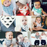4Pcs Set Infant Baby Kid Soft Cotton Boy Girl Saliva Towel Dribble Triangle Bibs